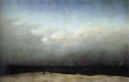 海辺の僧侶