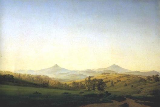 ミレシャウアーのあるボヘミア風景