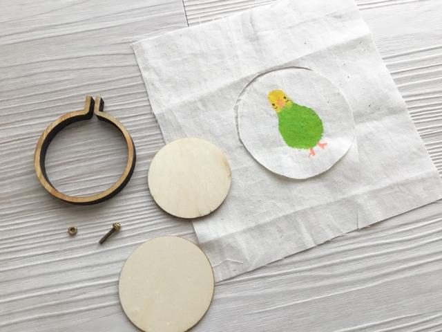 ミニ刺繍枠使い方