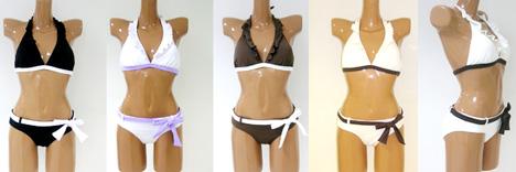 SOLIDホルターフリル水着 カラーは5色から選べるよ☆