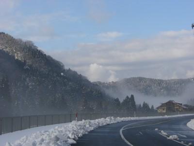 雪が美しい福井県池田町の山々