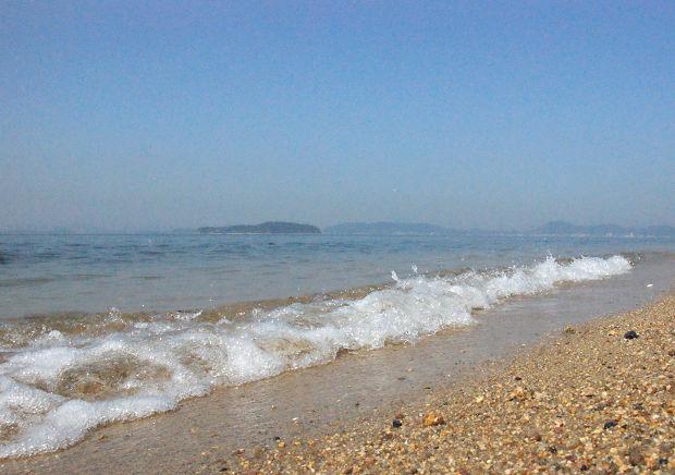 瀬戸内海の浜辺