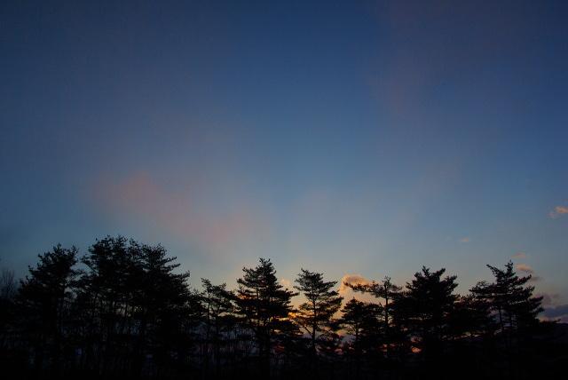 吾妻山麓の朝