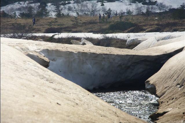 塩ノ川の雪融け
