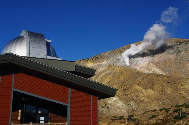 噴気と天文台