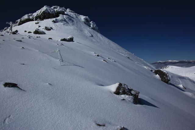 安達太良山頂付近