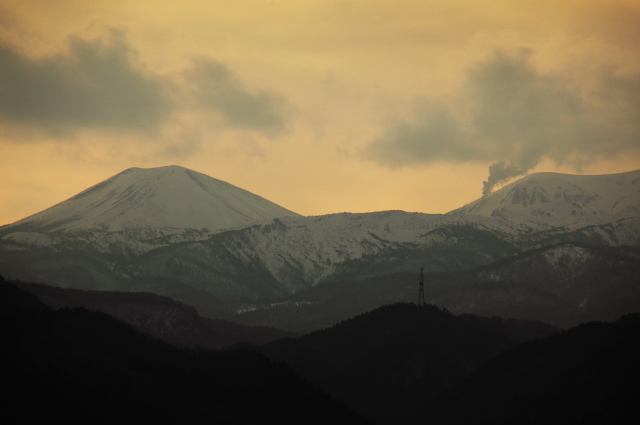夕空の吾妻山