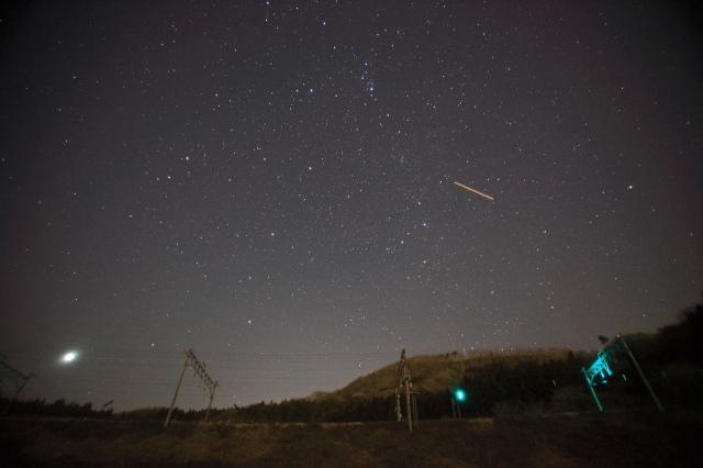 線路脇の星空