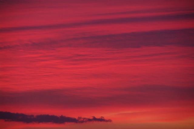 夜明けの南東空