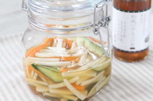 和風ピクルスの素で浸けた野菜