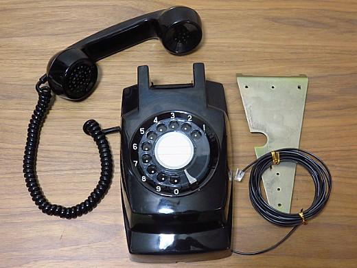 昭和レトロ黒電話壁掛け用美品ネットショップ通販