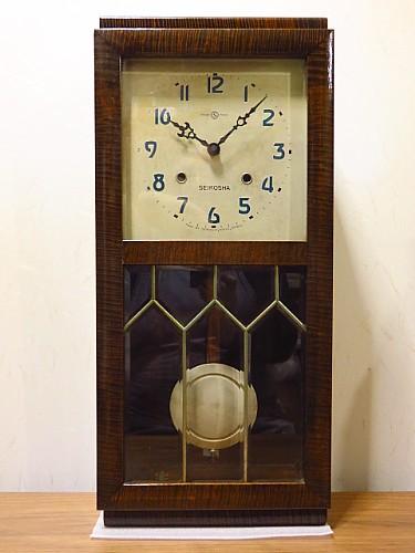 昭和初期精工舎古時計振り子時計電池再生品メンテ不要