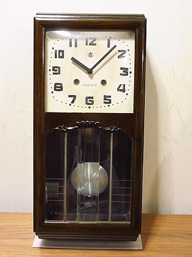 昭和レトロ振り子時計ボンボン時計アイチ時計クオーツ再生品メンテナンス不要