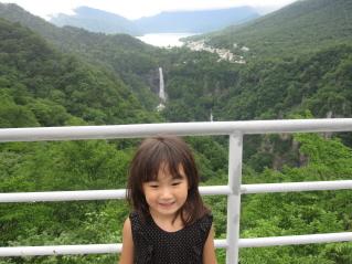 明智平展望台からの華厳の滝。