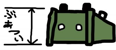 当時の記憶を再現したアーミーグリーンのばかでかいエフェクターの図