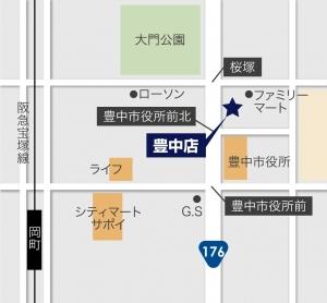 ワールドワン豊中店地図
