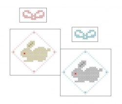 兎のお年玉袋を作ろう Excelクロスステッチ編