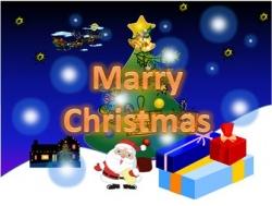 PowerPointアニメーションでクリスマスカード