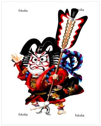 歌舞伎ー矢の根のキャラクター