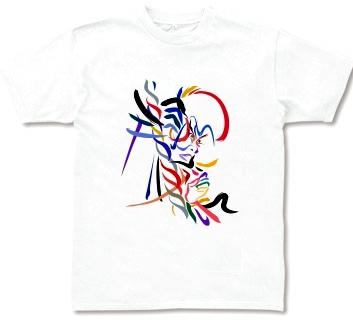 Tシャツ 歌舞伎 イラスト