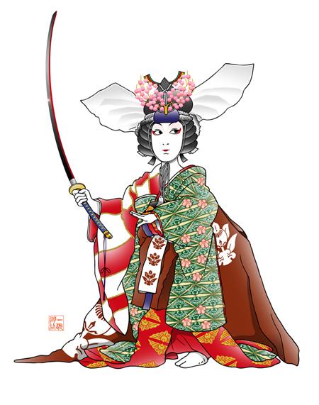女暫 歌舞伎