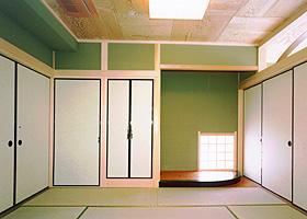 HOUSE N 和室(床の間付近)