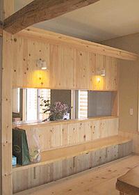 K HOUSE リビングとキッチンをつなぐカウンター