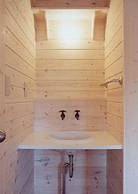 ベスパの家洗面所