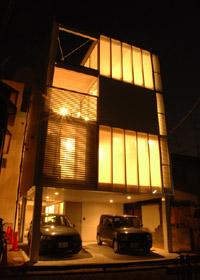 丹那の家外観(夜)