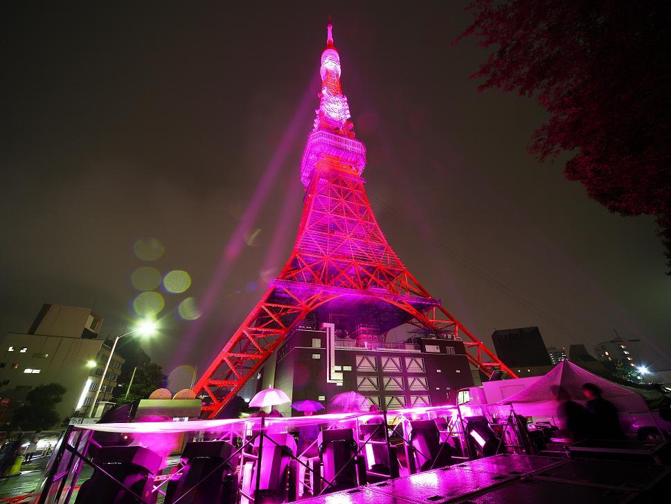 ピンクのタワー
