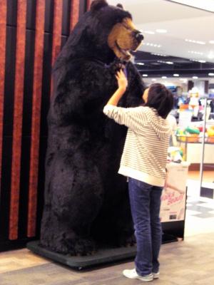 熊さん熊さん手上げて