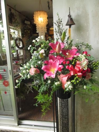 スタンド花 開店 花屋