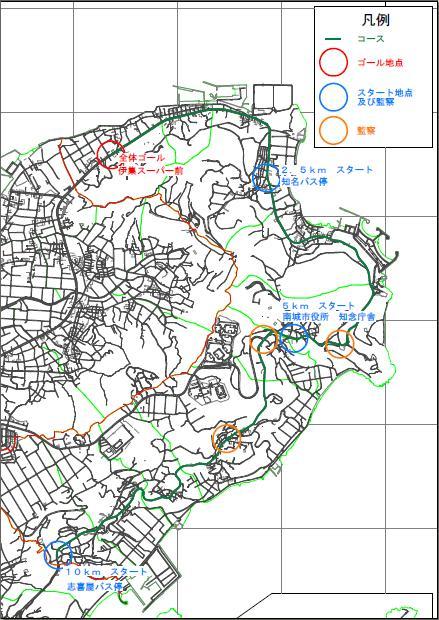 新春マラソンコースマップ