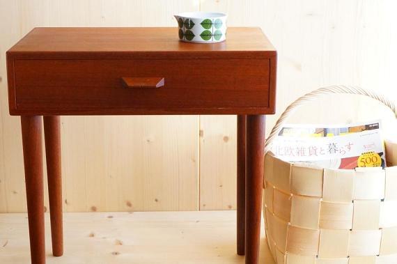 北欧家具デンマークミニチェスト/もみの木バスケット