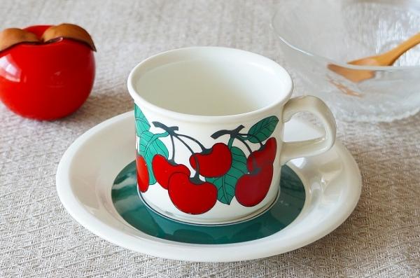 北欧食器/北欧雑貨/北欧/ヴィンテージ/食器/雑貨/arabia/アラビア/kirsikka/キルシッカ/コーヒーカップ&ソーサー