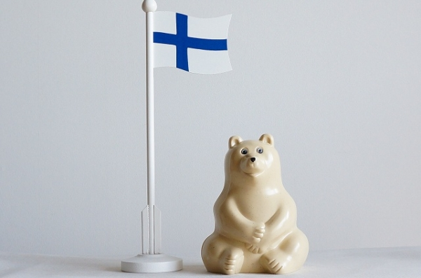 北欧雑貨/北欧/インテリア/雑貨/オブジェ/ラッセントレー/フィンランド/国旗/旗/テーブルフラッグ/置物/飾り