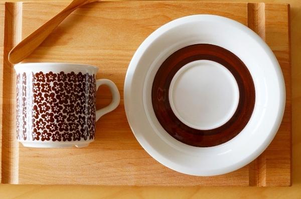 北欧食器/北欧雑貨/北欧/ヴィンテージ/食器/雑貨/arbiaアラビア/faenza/ファエンツァ/コーヒーカップ&ソーサー/アンティーク/キッチン/インテリア