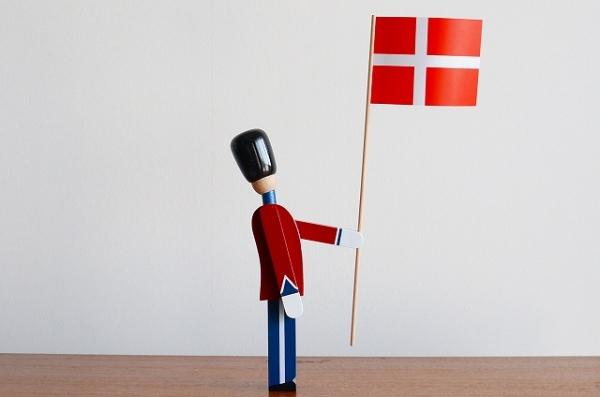 北欧雑貨/北欧/インテリア/雑貨/KAY BOJESEN/カイボイスン/デンマーク/衛兵/旗/国旗/木製/オブジェ