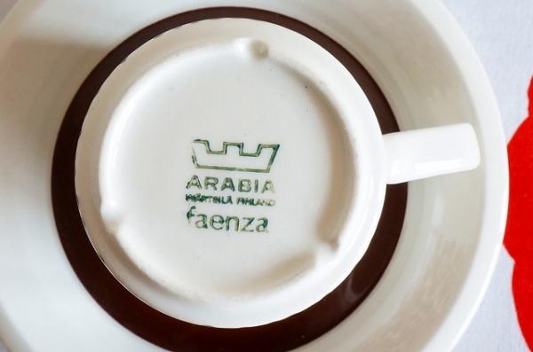 北欧食器/北欧雑貨/北欧/食器/雑貨/arbiaアラビア/faenza/ファエンツァ/コーヒーカップ&ソーサー/ヴィンテージ/アンティーク/キッチン/インテリア