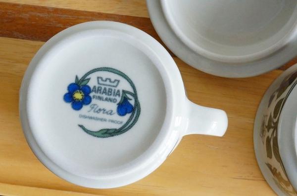 北欧雑貨/北欧食器/北欧/ヴィンテージ/食器/雑貨/arabia/アラビア/Flora/フローラ/キッチン/アンティーク
