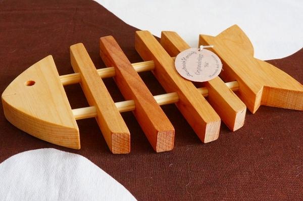 北欧雑貨/北欧/キッチン/インテリア/雑貨/skandinavisk hemslojd/スカンジナビスク・ヘムスロイド/鍋敷き/ポットマット/さかな/木製