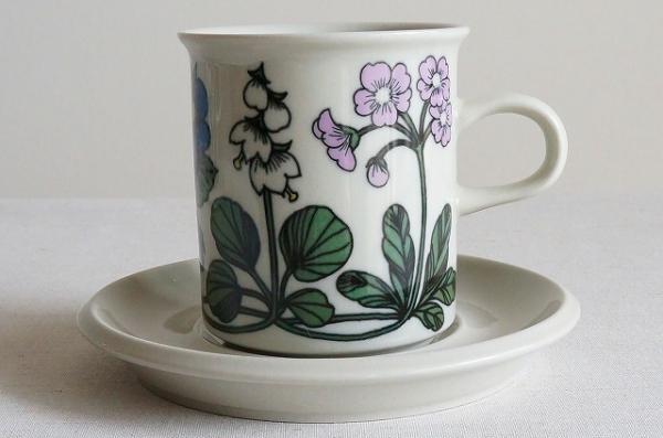 北欧雑貨/北欧食器/北欧/食器/雑貨/arabia/アラビア/Flora/フローラ/コーヒーカップ&ソーサー/ヴィンテージ/キッチン