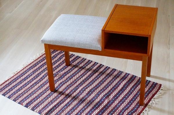 北欧家具/北欧/家具/ヴィンテージ/インテリア/テレフォンベンチ/電話台/ベンチ/椅子/スツール