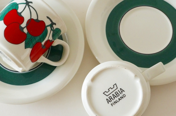 北欧食器/北欧雑貨/北欧/ヴィンテージ/食器/雑貨/arabia/kirsikka/アラビア/キルシッカ/カップ&ソーサー/キッチン/インテリア