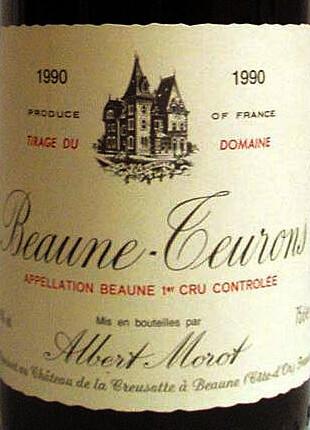Albert Morot Beaune Teurons 1er-cru1990