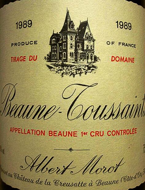 Albert Morot Beaune Toussaints 1er-Cru1989