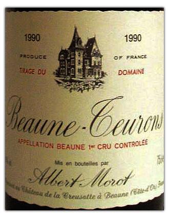 Albert Morot Beaune Teurons 1er-Cru-1990