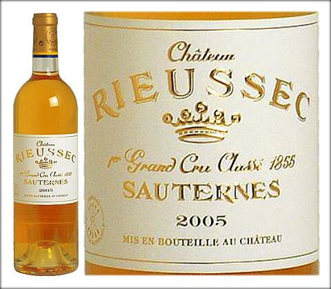 Chateau Rieussec Sauternes Fargues GCC 2005
