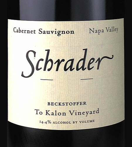 Schrader Cellars Cabernet Sauvignon Beckstoffer To Kalon Vineyard