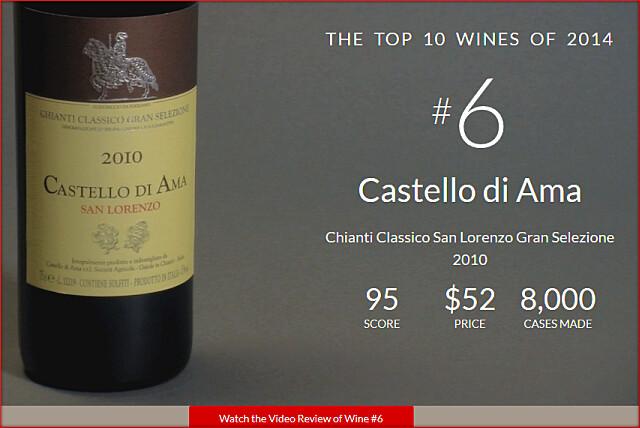 WS2014TOPNo6-Castello di Ama Chiani Classico San Lorenzo Gran Selezione 2010